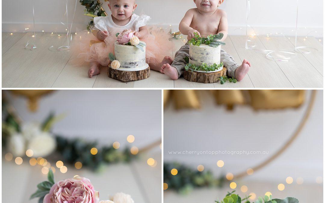 Twin First Birthday | Sydney Cake Smash