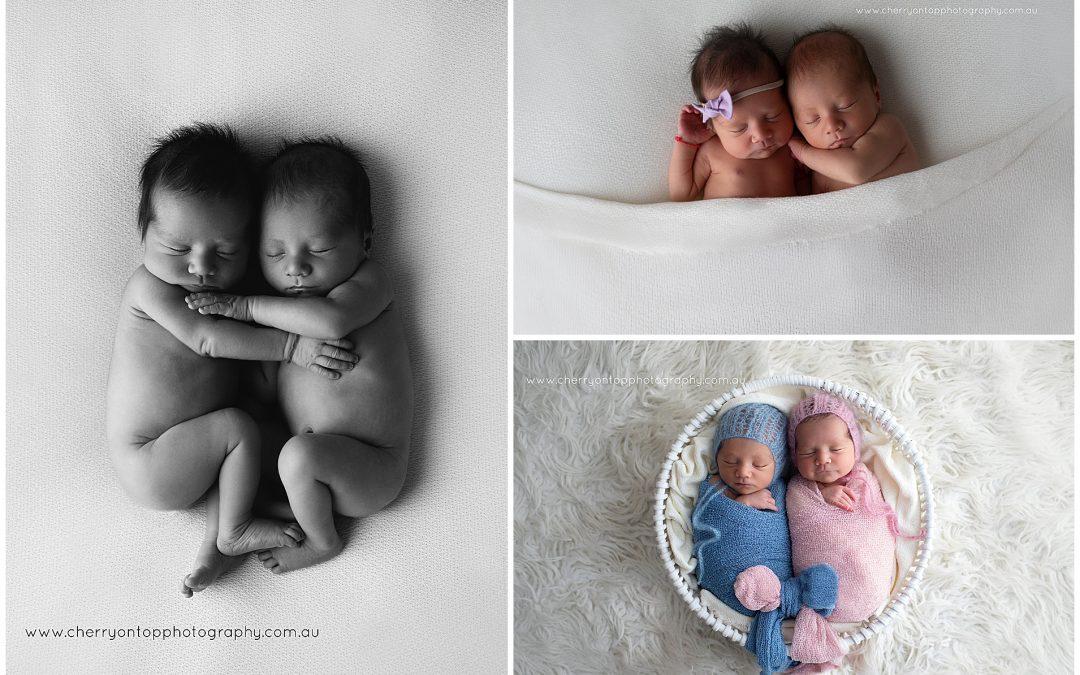 Jayden and Jaylyn | Newborn Twin Photography Sydney