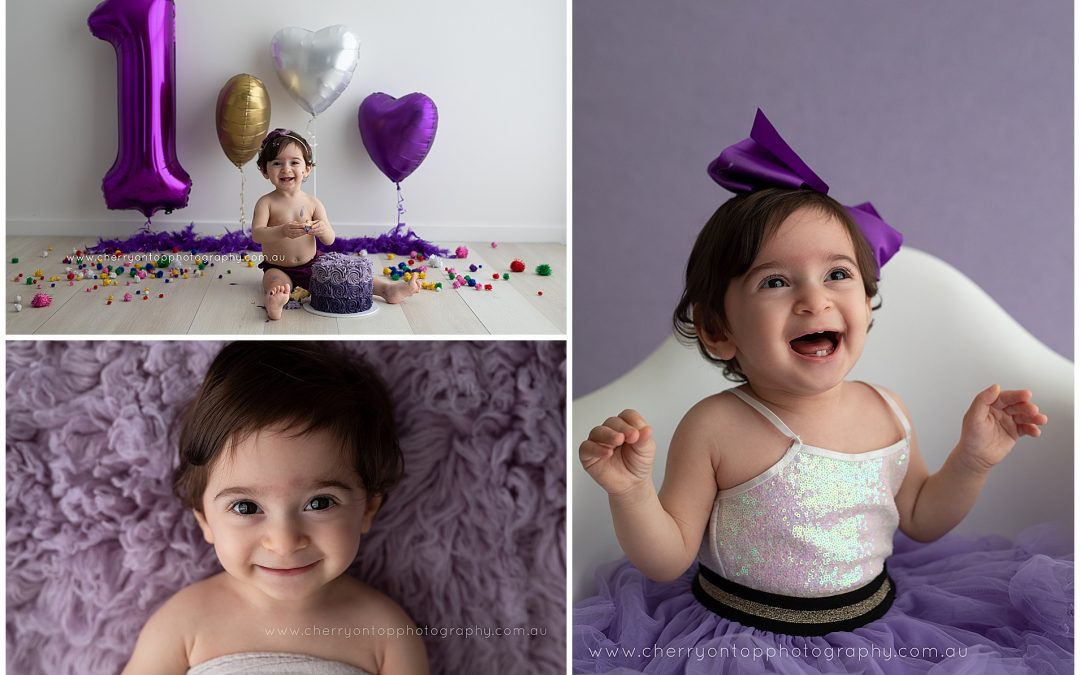 Violet | Cake Smash Photography Sydney