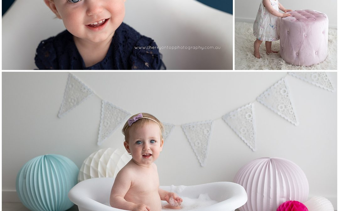 Emilia | First Birthday Bath Splash Sydney