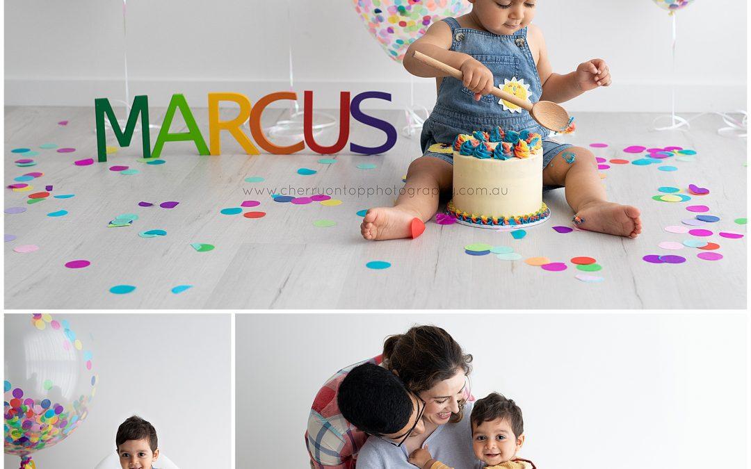 Marcus   First Birthday Cake Smash Sydney